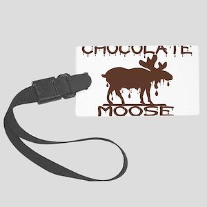 Chocolate Moose Large Luggage Tag