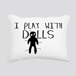 Play With Dolls Rectangular Canvas Pillow
