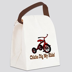 Dig My Ride Canvas Lunch Bag