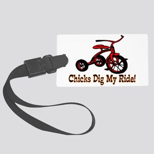 Dig My Ride Large Luggage Tag