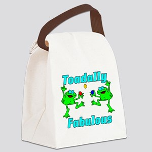 Toadally Fabulous Canvas Lunch Bag