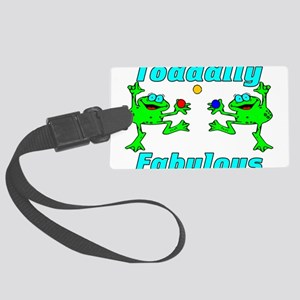 Toadally Fabulous Large Luggage Tag