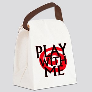 Play With Me Canvas Lunch Bag