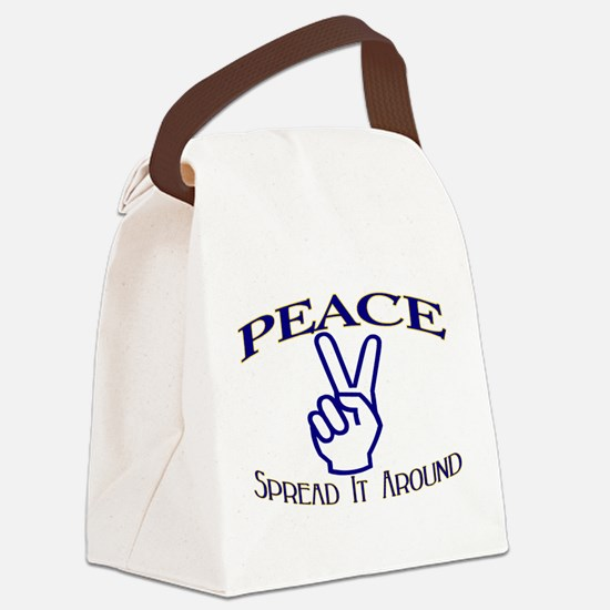Peace Canvas Lunch Bag