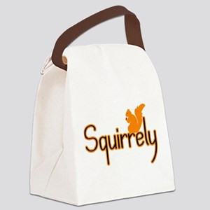 Squirrely Canvas Lunch Bag