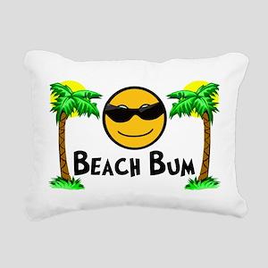 Beach Bum Rectangular Canvas Pillow