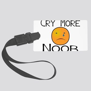 Cry Noob Large Luggage Tag