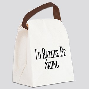Rather Be Skiing Canvas Lunch Bag