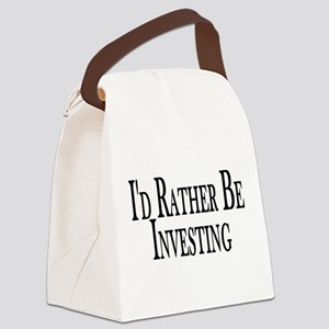 Rather Be Investing Canvas Lunch Bag