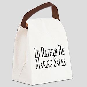 Rather Make Sales Canvas Lunch Bag
