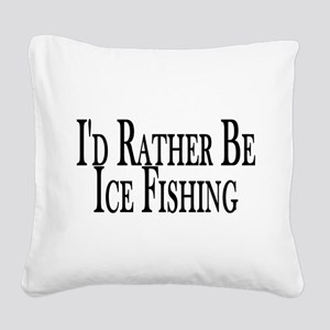 Rather Ice Fish Square Canvas Pillow