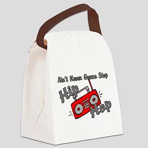 Never Stop Hip Hop Canvas Lunch Bag