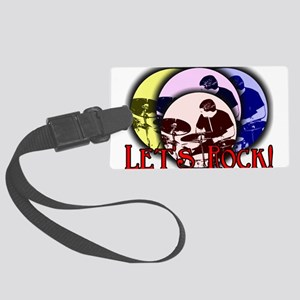 Let's Rock Large Luggage Tag