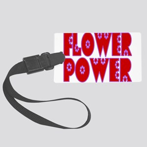 Flower Power Large Luggage Tag