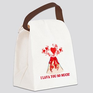I Lava You Canvas Lunch Bag
