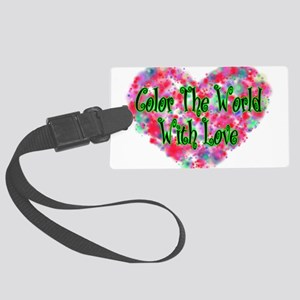 Color The World Large Luggage Tag