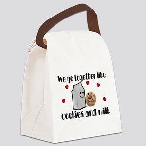 Cookies And Milk Canvas Lunch Bag