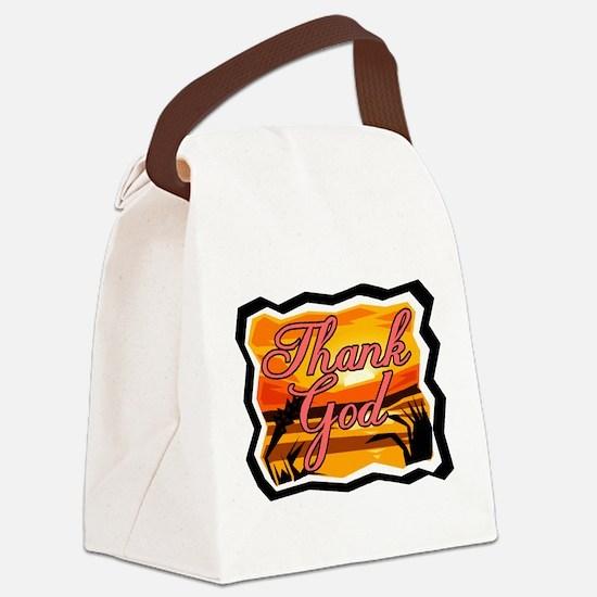 Thank God Canvas Lunch Bag
