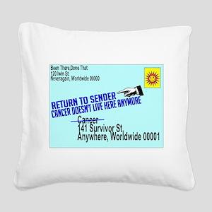 Cancer No More Square Canvas Pillow