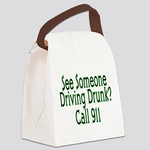 Call 911 Canvas Lunch Bag