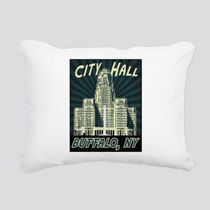 Buffalo City Hall Rectangular Canvas Pillow