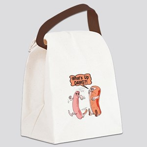 What's Up Dawg Canvas Lunch Bag