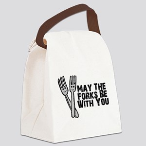 Forks Be With You Canvas Lunch Bag