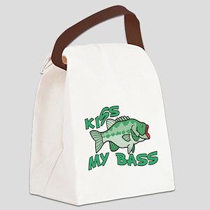 Kiss My Bass Canvas Lunch Bag