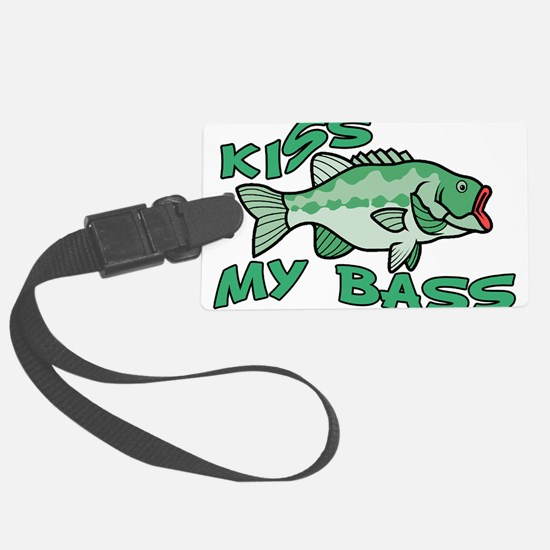 Kiss My Bass Luggage Tag