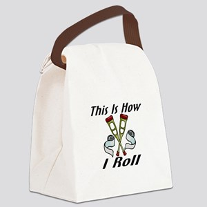 How I Roll Injured Canvas Lunch Bag