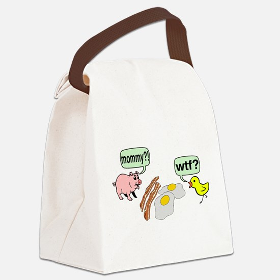 Bacon And Eggs Nightmare Canvas Lunch Bag