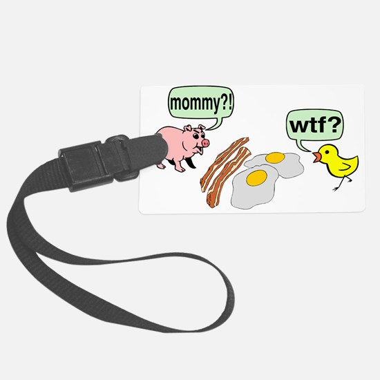 Bacon And Eggs Nightmare Luggage Tag