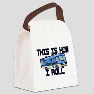 How I Roll RV Canvas Lunch Bag