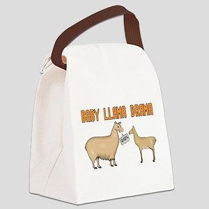 Baby Llama Drama Canvas Lunch Bag