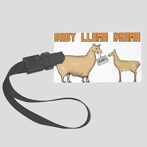 Baby Llama Drama Large Luggage Tag