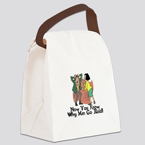 Go Bald Canvas Lunch Bag