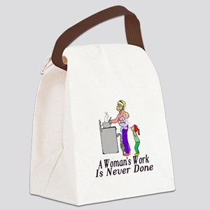 A Woman's Work Canvas Lunch Bag