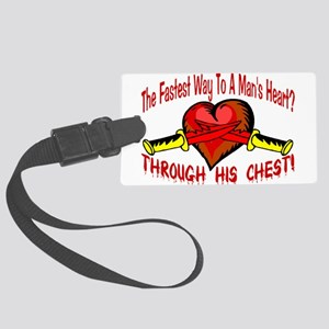 Man's Heart Large Luggage Tag