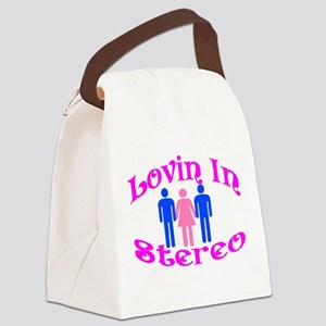 Woman Stereo Canvas Lunch Bag