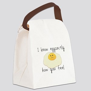 Eggsactly How You Feel Canvas Lunch Bag