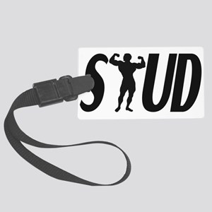 Stud Muscles Large Luggage Tag