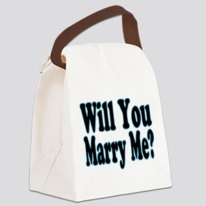 Will You Marry Me? His Canvas Lunch Bag