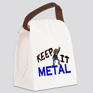 Keep It Metal Canvas Lunch Bag