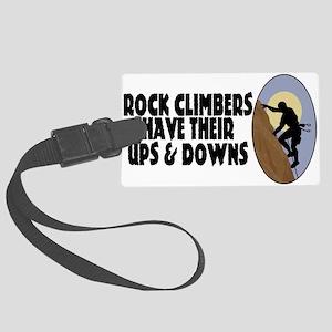 Rock Climbers Large Luggage Tag