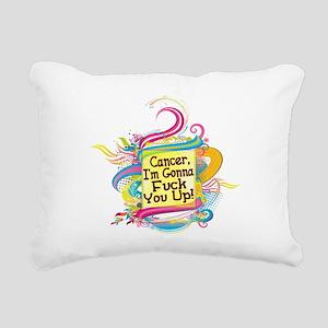 F Up Cancer Rectangular Canvas Pillow