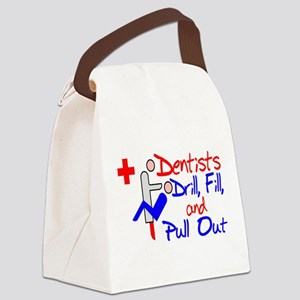 Dentists Drill Canvas Lunch Bag