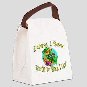 I Sew I Sew Canvas Lunch Bag