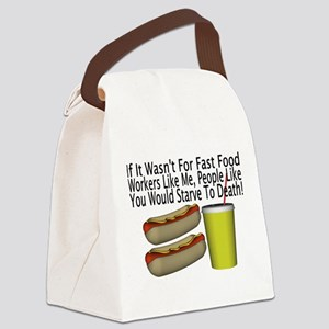 Fast Food Worker Canvas Lunch Bag