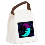 Sleepy Moonlight Canvas Lunch Bag