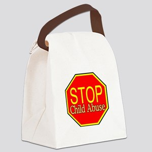 Stop Abuse Canvas Lunch Bag